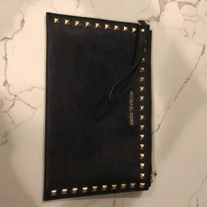 Michael Kors Studded Black Wristlet